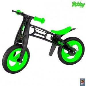 Велобалансир+беговел Hobby-bike FLY А Черная Оса Plastic (зеленый/черный, В-шины волна)