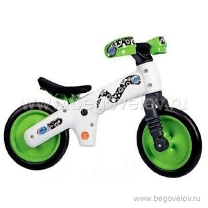 Беговел Belelli B-Bip (белый/зеленый) ДИСКОНТ