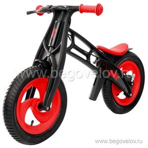 Беговел Hobby Bike FLY A (шины - елочка) (красный/черный)