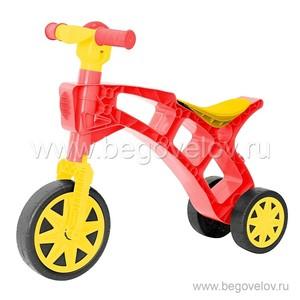Беговел-мотоцикл RT Самоделкин Т2759 с клаксоном (красно-желтый)