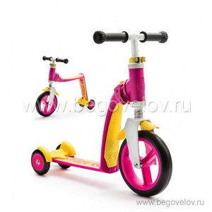 Беговел-самокат (трансформер) Scoot&Ride Highway Baby Plus (розовый)