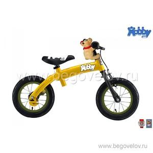 Беговел-велосипед (2 в 1) Hobby Bike New (желтый)