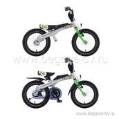 """Беговел-велосипед (2 в 1) Rennrad 14"""" (зеленый)"""