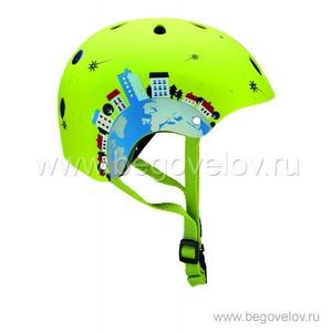 Шлем Globber Printed Junior (зеленый)