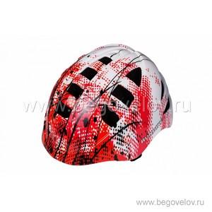 Шлем Runbike Inmold (красно-белый)