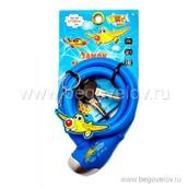 Велозамок тросовый с брелком Vinca Sport 12х1000 мм (синий)